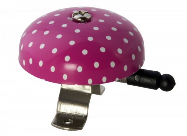 Liix Fahrradklingel Polka Dots Pink, rosa mit weißen Punkten