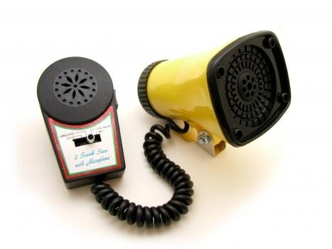 Liix Kojak Sirene mit Mikrofon für Lautsprecheransagen, gelb