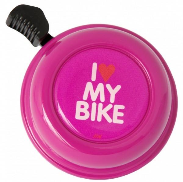 Liix Fahrradklingel I Love My Bike Purple, lila