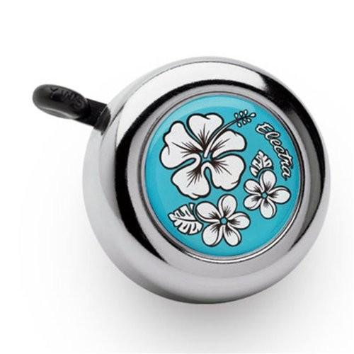 """Electra Fahrradklingel """"Hawaii"""", baby Blue, mit weißer Blume"""