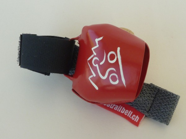 Swisstrailbell Collector Edition Rot mit weissem Mountainbiker