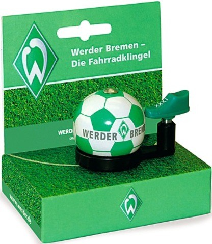 """Bundesliga- Fahrradklingel """"Werder Bremen"""", grün/weiß"""