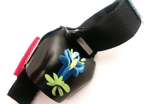 Swisstrailbell Collector Black mit Enzian