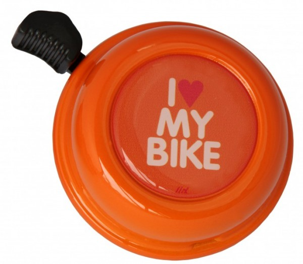 Liix Fahrradklingel I Love My Bike Orange, orange