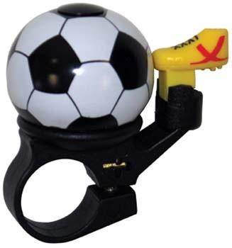 Fußball-Fahrradklingel / Glocke, schwarz / weiß / gold