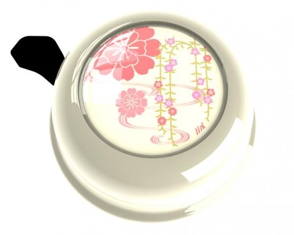 Liix Fahrradklingel Sakura Cream, weiß