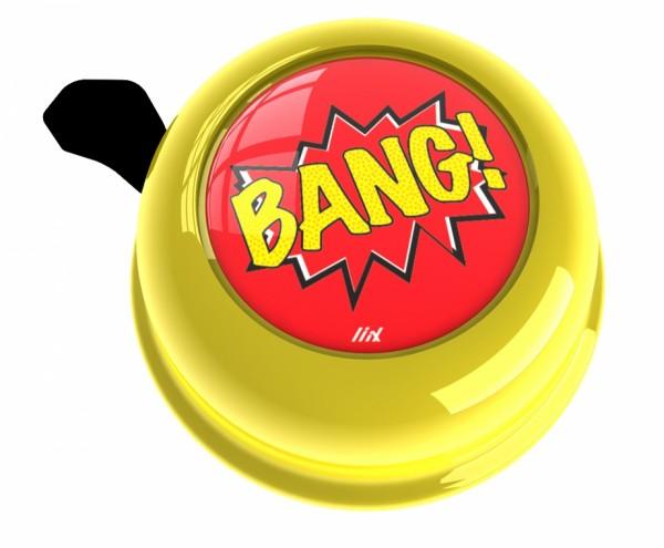 Liix Fahrradklingel Bang! Yellow