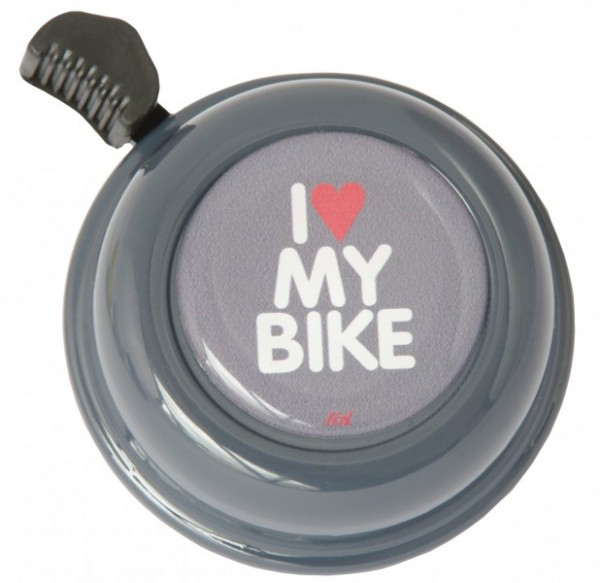 Liix Fahrradklingel I Love My Bike Dark Grey, grau