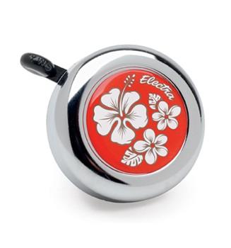"""Electra Fahrradklingel / Glocke """"Hawaii"""", orange, mit weißer Blume"""