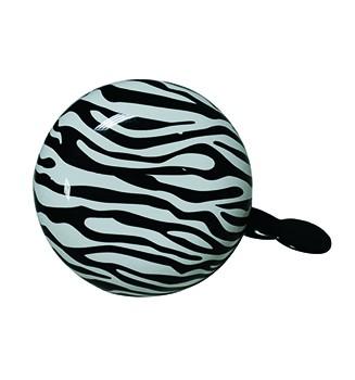 "Ding-Dong Fahrradklingel / Glocke ""Zebra"", schwarz/weiß"
