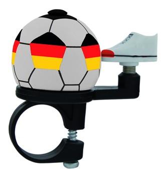 """Fußball- Fahrradklingel / Glocke """"Deutschland"""", weiß"""