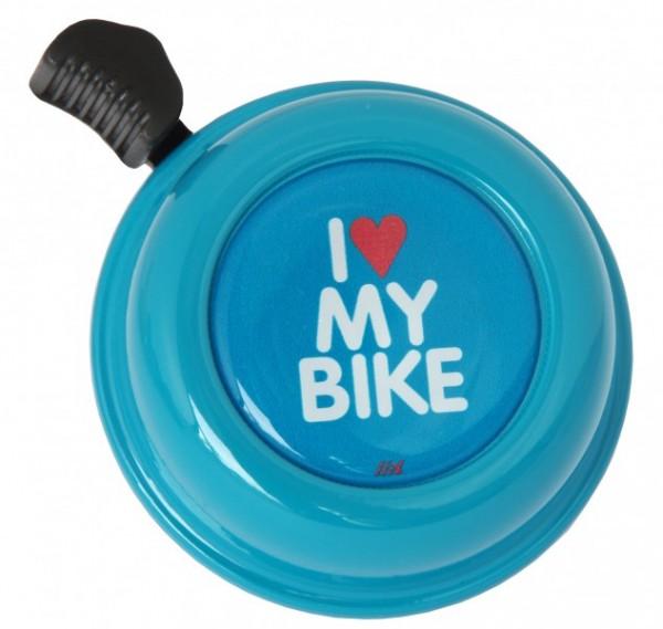 Liix Fahrradklingel I Love My Bike Turquoise, blau