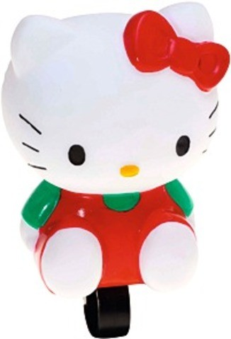"BIKE FASHION Fahrradhupe, ""Hello Kitty"", weiß/rot"