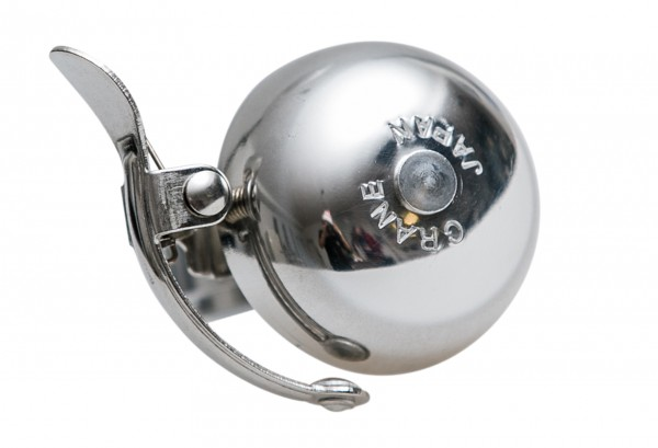 Crane Bell Co. Mini Suzu Bell Fahrradklingel Polished Silve