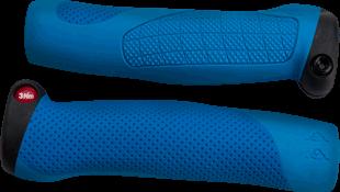 66sick AA Grip ergonomische Fahrradgriffe in blau, MTB DH FR BMX All Mountain
