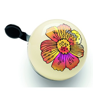 "Electra Fahrradklingel / Glocke Ding Dong ""Flower"", gelb mit Blume"