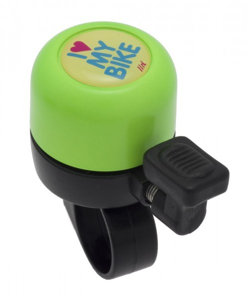 Liix Micro Bell I Love My Bike Yellow Neon Grün Ping Fahrradklingel