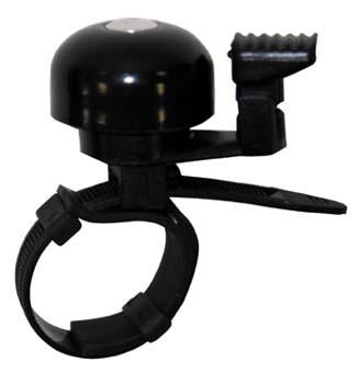 TAQ-33 Mini-Fahrradklingel / Glocke Alu, silber/schwarz