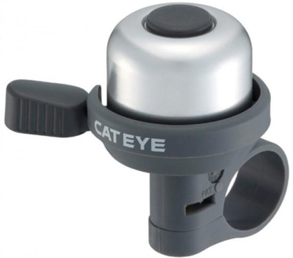 CATEYE Fahrradklingel / Glocke PB-1000 Wind Bell, Silber, DingDing Sound