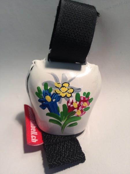 Swisstrailbell Collector Edition weiß mit Alpenblumen