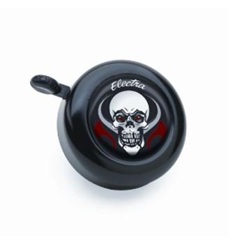 "Electra Fahrradklingel / Glocke ""Skull"", schwarz, mit Totenkopf"