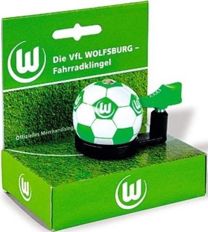 """Bundesliga- Fahrradklingel """"Wolfsburg"""", grün"""