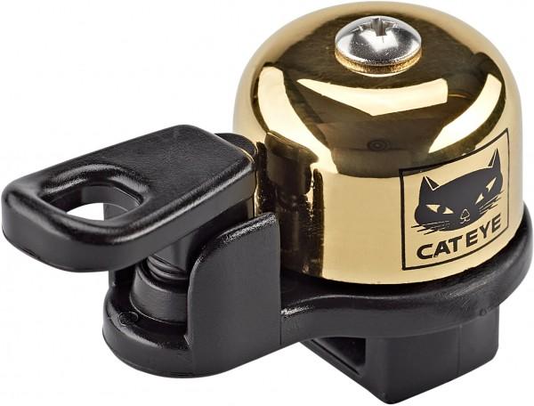 """CAT EYE Mini- Fahrradklingel / Glocke """"OH-2400"""", gold"""