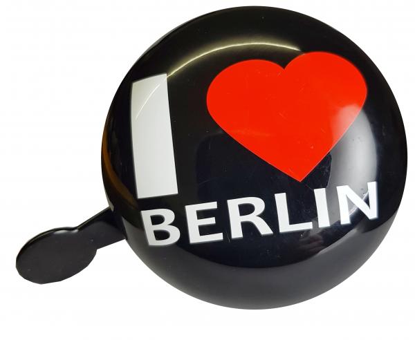 """LTJ 2-Klang Fahrradglocke """"I Love Berlin"""" schwarz, Ø 80mm"""