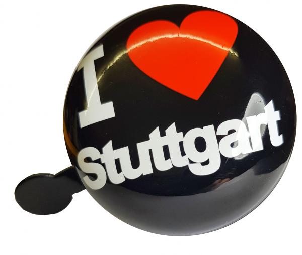 "LTJ 2-Klang Fahrradglocke ""I Love Stuttgart"", schwarz, Ø 80mm"