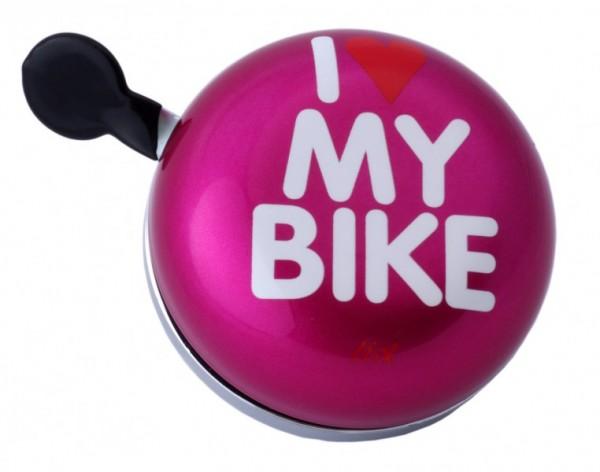 Liix Ding Dong Fahrradklingel I Love My Bike, pink
