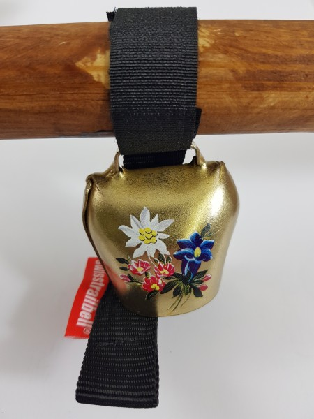 Swisstrailbell Edition Messing mit Alpenblumen