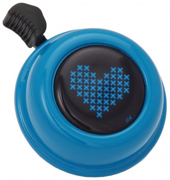 Liix Fahrradklingel Stitched Love Turquoise, blau
