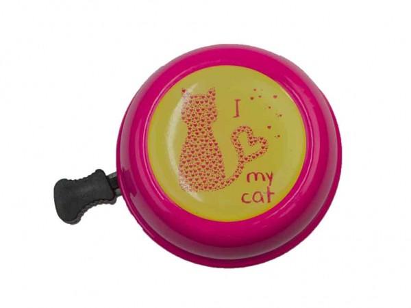 beBell Fahrradklingel I love my cat rosa