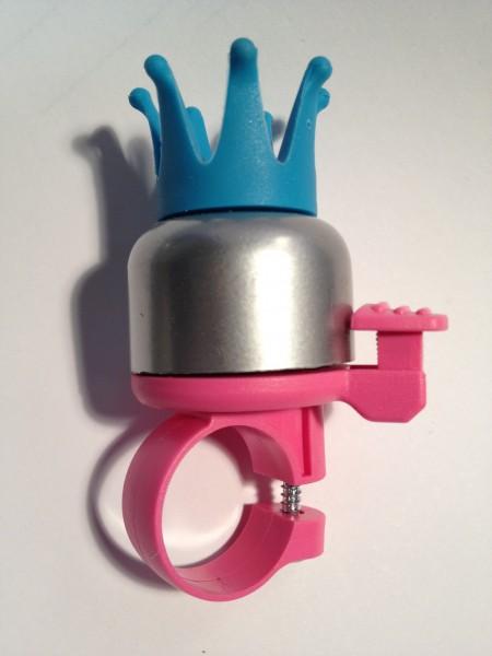 """WIDEK Miniglocke """"Princess Krone"""", rosa/silber mit blauer Krone"""