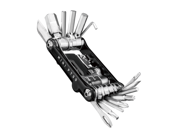Topeak Mini PT30, Multitool, 30 Funktionen, Fahrrad Reparatur Werkzeug, schwarz