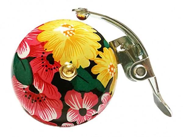 beBell Retro Fahrradklingel mit Blumen / Flowers