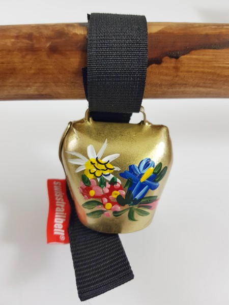 Swisstrailbell Edition Messing mit handgemalten Alpenblumen