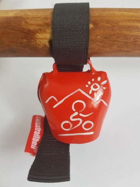 Swisstrailbell Edition Rot mit weißem Mountainbiker