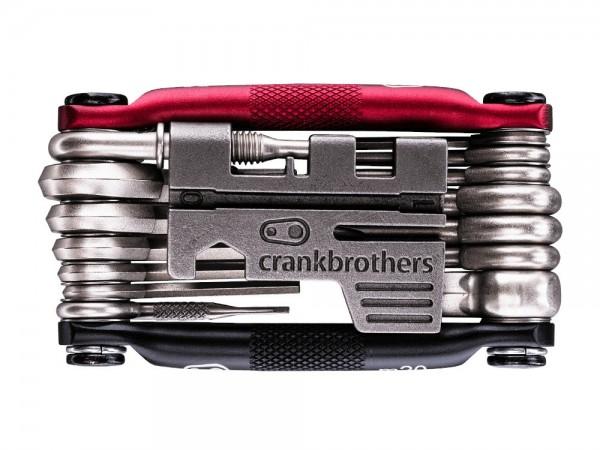 crankbrothers Fahrrad Multitool M20, black/red