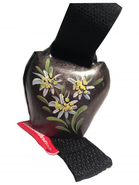 Swisstrailbell Edition Messing Antik mit 3 Edelweiß