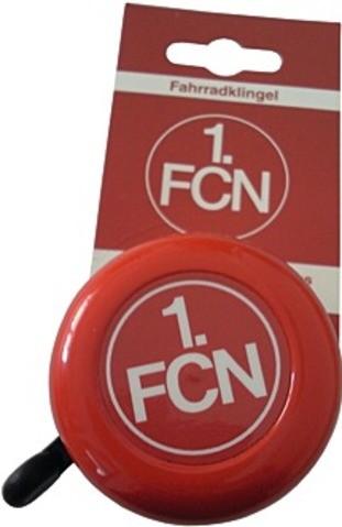 """Fahrradklingel """"1.FC Nürnberg"""", rot/weiß"""