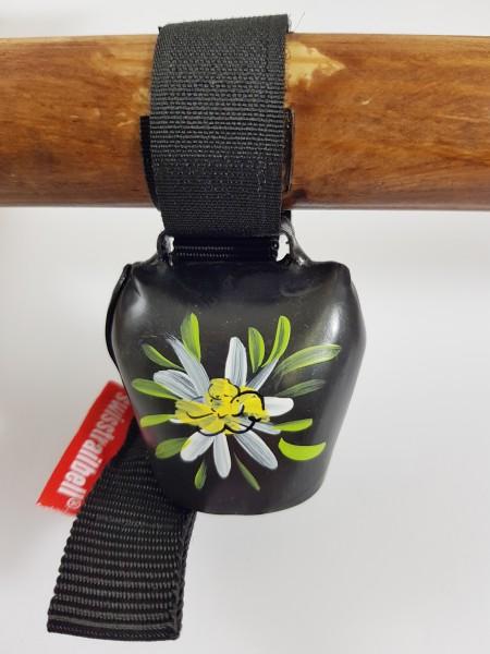 Swisstrailbell Black mit Edelweiß