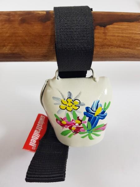 Swisstrailbell Edition weiß mit Alpenblumen