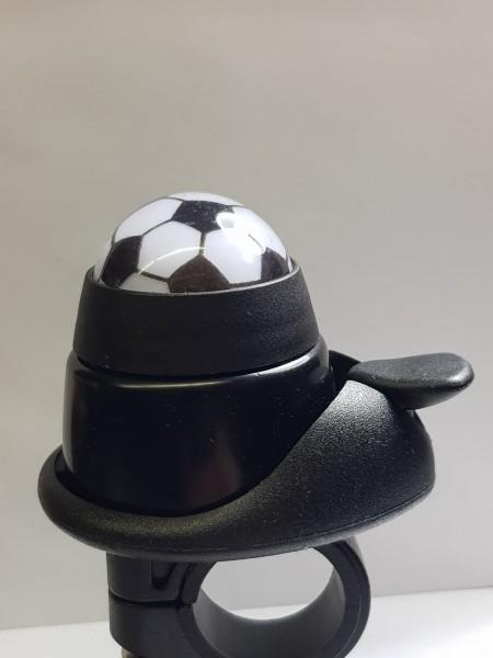 """Fahrradklingel LTJ Mini Klingel """"Fußball"""", schwarz, Fan Bell, beweglicher Ball!!"""