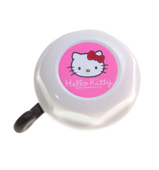 "Kinder Fahrradklingel / Glocke ""Hello Kitty"", weiß"
