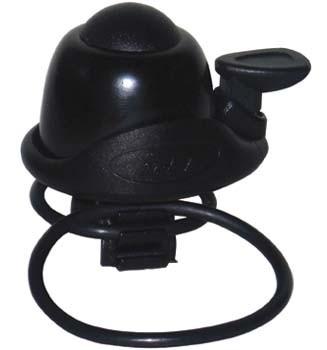 TAQ-33 Mini- Fahrradklingel / Glocke Alu, schwarz