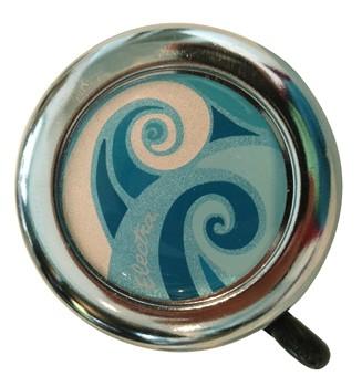 """Electra Fahrradklingel / Glocke """"Coaster"""", silber/weiß/blau"""