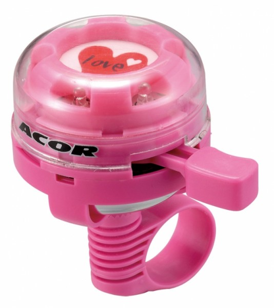 Glitter Bell blinkende Fahrradklingel in pink