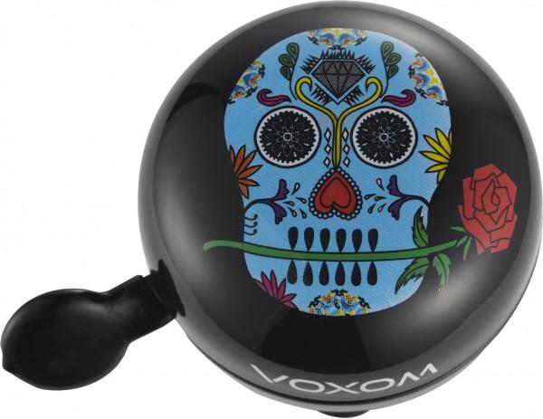 Voxom Fahrradklingel / Glocke Skull black, Ø 60mm