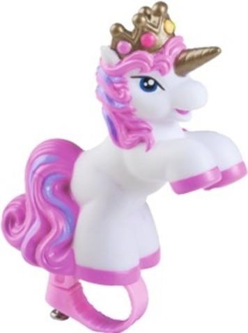 "BIKE FASHION Fahrradhupe, ""Filly Unicorn"", weiß/pink"